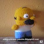 patron gratis muñeco Homer Simpson amigurumi, free amiguru pattern doll Homer Simpson