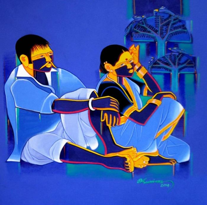 Художник из Хайдарабада. Tailor Srinivas