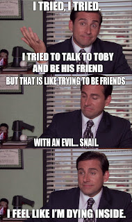 evil%2Bsnail the office isms memes