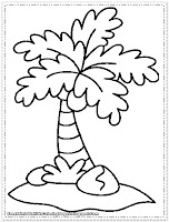 coconut tree coloring pages