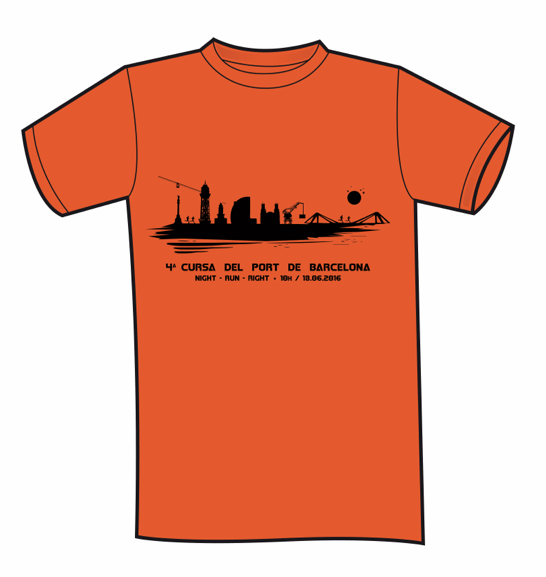 Camiseta 4ª Cursa Port de Barcelona