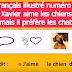 Le français illustré numéro 17 : Xavier aime les chiens, mais il préfère les chats