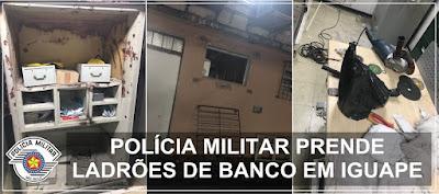 POLÍCIA MILITAR PRENDE CRIMINOSOS QUE TENTARAM FURTAR BANCO SANTADER EM IGUAPE