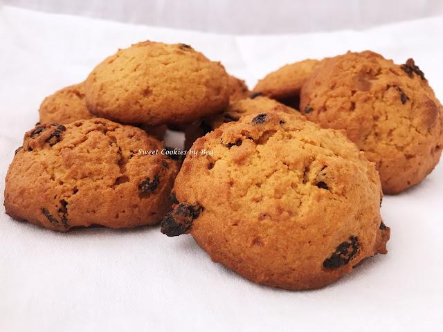 Cookies con miel y pasas