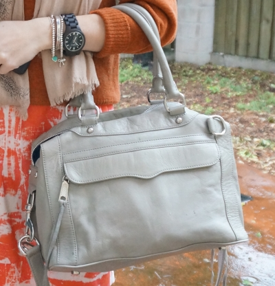 Rebecca Minkoff MAB mini MAM in soft grey