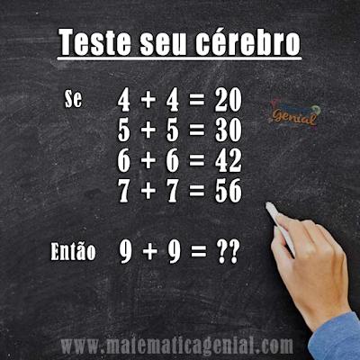 Se 4+4=20, 5+5=30, 6+6=42,7+7=56, 9+9=??