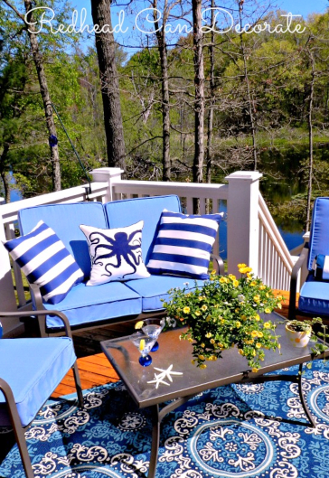 Blue Coastal Patio Porch Decor Ideas