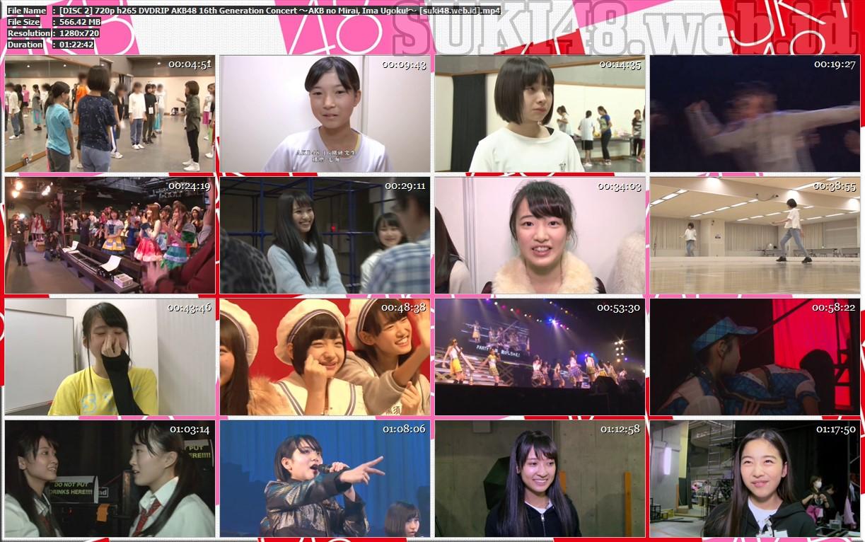 DVDRIP] AKB48 16th Generation Concert ~AKB no Mirai, Ima Ugoku
