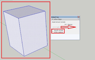 How to Soften Line Angle in Sketchup