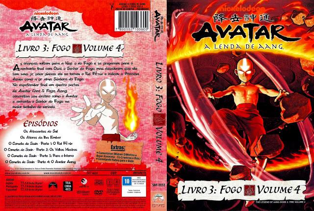 Capa DVD AVATAR A LENDA DE AANG LIVRO 3: FOGO VOLUME 4