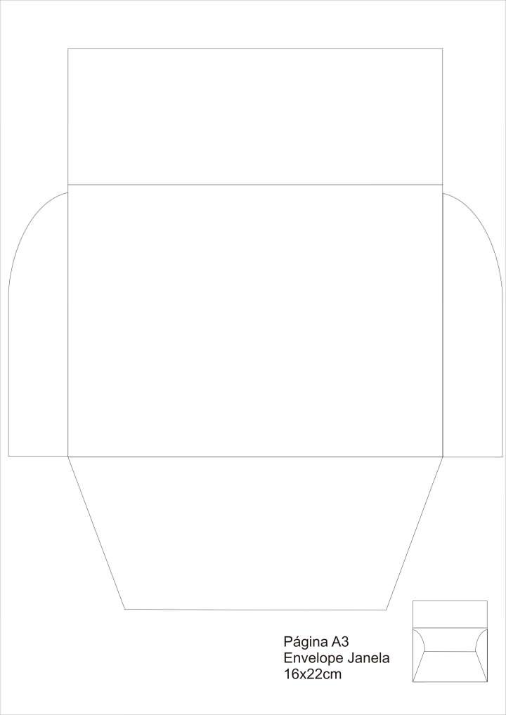 Molde De Envelope De Carta Para Imprimir E Montar Espaco Educar