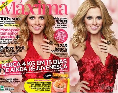 579980990 Carolina Dieckmann é a estrela da capa da edição de outubro da revista  MÁXIMA A atriz