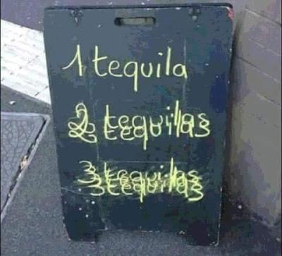 un tequila,dos tequilas,tres tequilas