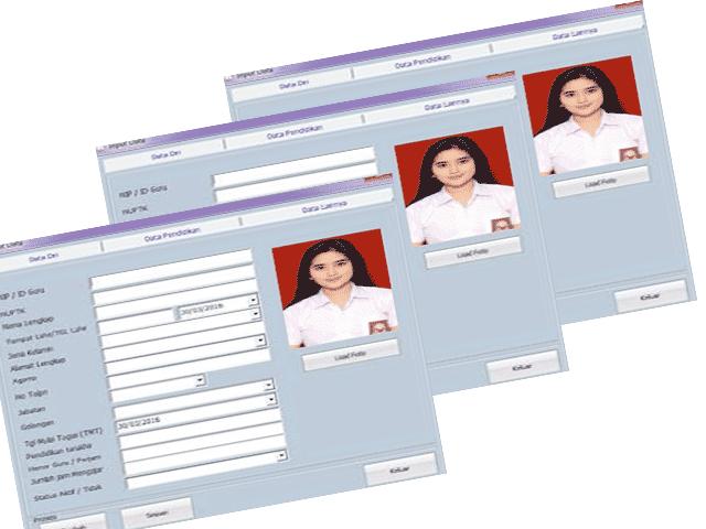 Download Aplikasi Buku Induk Otomatis SD/MI,SMP/MTS,SMA/SMK Contoh File Guru