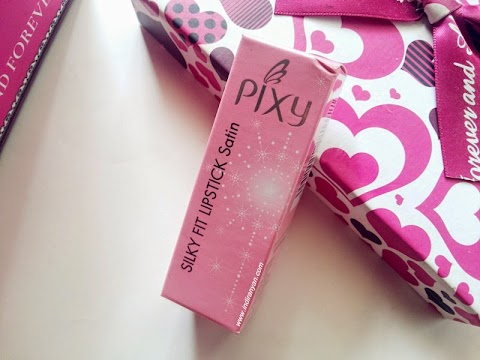 [REVIEW] Pixy : Silky Fit Lipstick Satin - #202 Carnal Rose