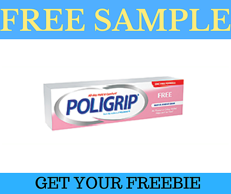 Get a Free Sample Tube of Poligrip