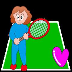 Tennis favorite grandmother (pose Hen)