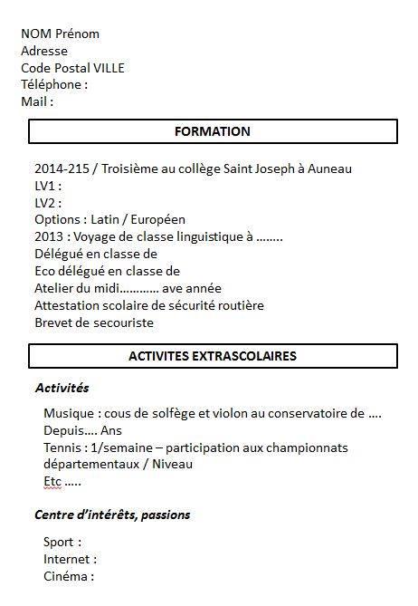 bdi coll u00e8ge saint joseph auneau  atelier cv et lettre de