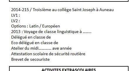 document délégué de classe