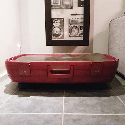 sänky matkalaukusta, matkalaukkusänky, koiran sänky