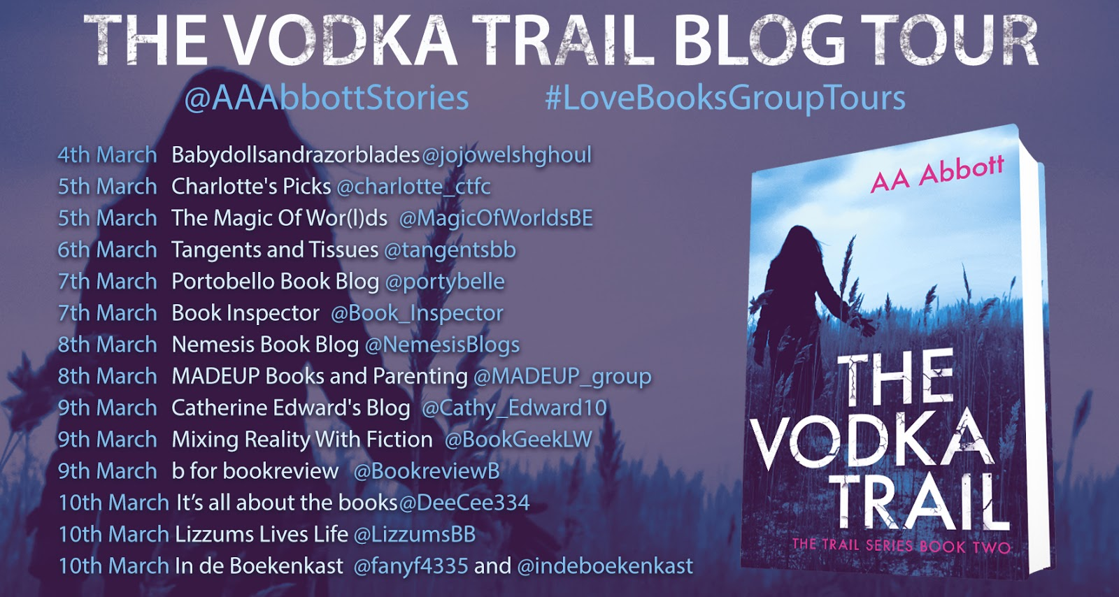 The Vodka Trail by AA Abbott | Book Tour Review