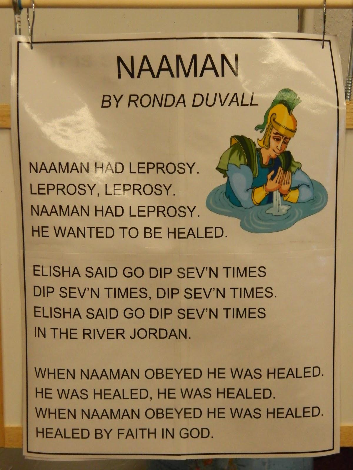 Hands On Bible Teacher Naaman Had Leprosy