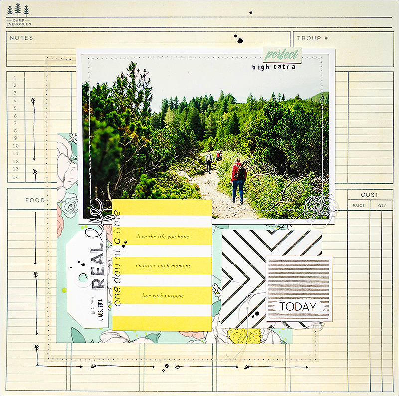 Stephanie Berger - Scrapbooking Layout - Real Life
