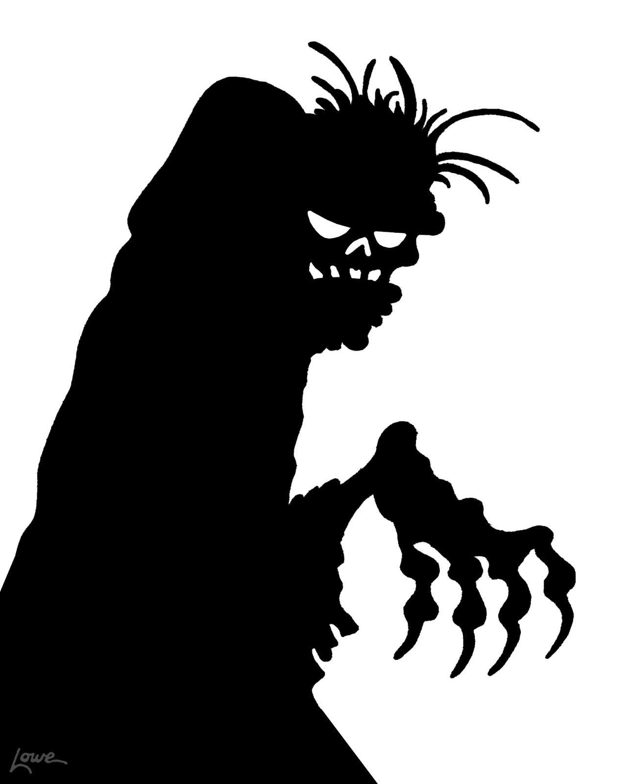Dave Lowe Design The Blog 63 Days Til Halloween Zombie Window Silhouette Printables