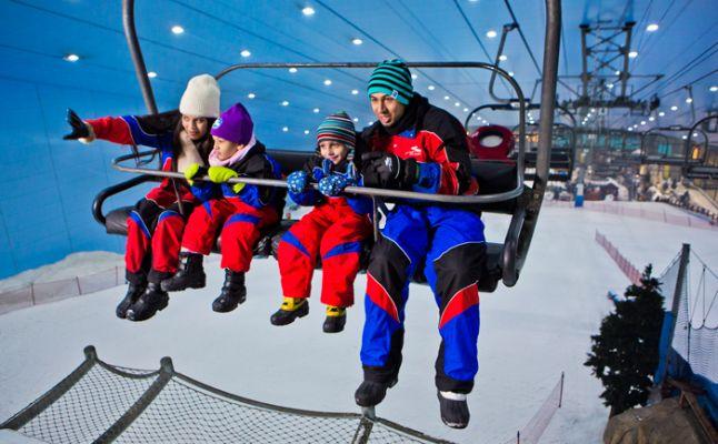 سكي دبي (Ski Dubai التزلج على الجليد رجل امرأة اطفال يتزحلقون على الجليد تيليفريك telefreak ice skate man woman kids children