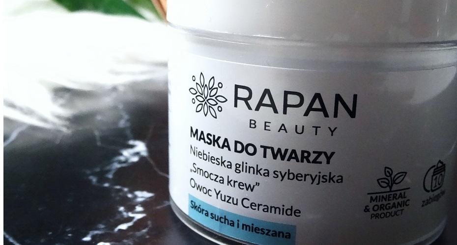 rapan beauty glinka, maska do twarzy, glinka syberyjska, niebieska, smocza krew, owoc yuzu ceramide