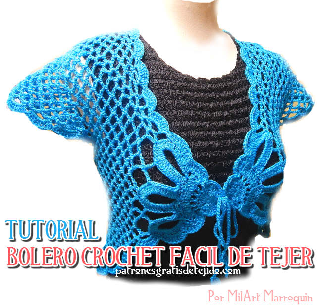 tutorial bolero crochet