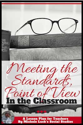 Read these great ideas on how to teach common core standards in the secondary Social Studies classroom - Point of View. The checklist in this post is awesome! #pointofview #teaching #social Studies #CCSS CCSS Standard 6