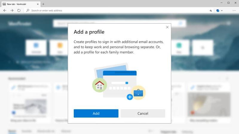 How to create multiple User Profiles in Microsoft Edge (Chromium)?
