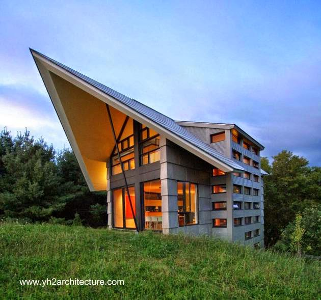 Moderno concepto de casa contemporánea rural en Canadá 2010