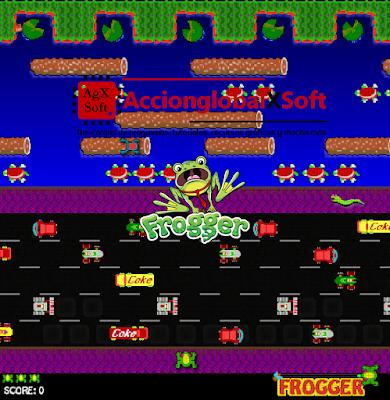 """El conocido juego ochentero de la """"ranita"""" en versión portable para Windows"""