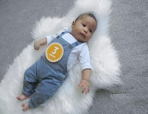 Adanna Ohakim shares an adorable photo of her son as he clocks three months