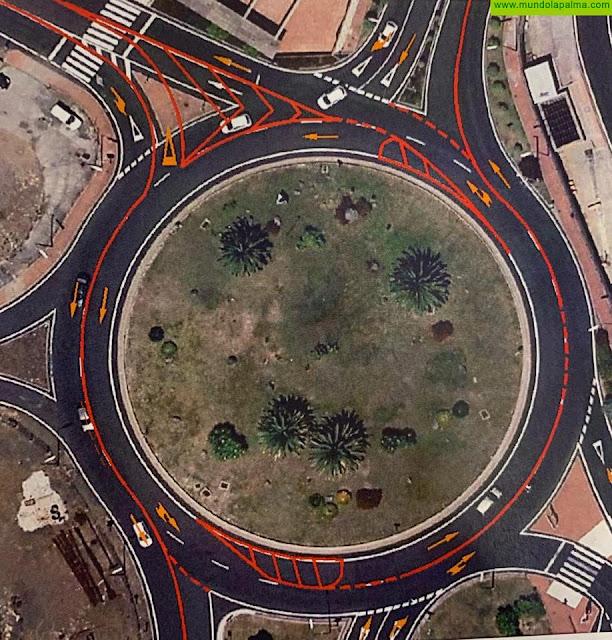 El Cabildo convierte en turboglorieta la salida sur de Santa Cruz de La Palma para mejorar la fluidez y la seguridad del tráfico