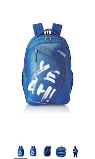 American tourister blue causal backpack