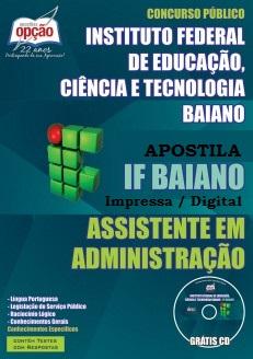 Apostila Concurso Instituto Federal Baiano - IFBaiano edital 2016.