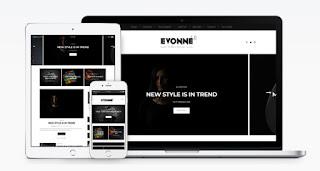 evonne blogger template 2018