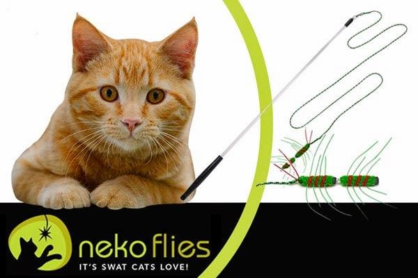 удочка дразнилка для кошек Neco Flies