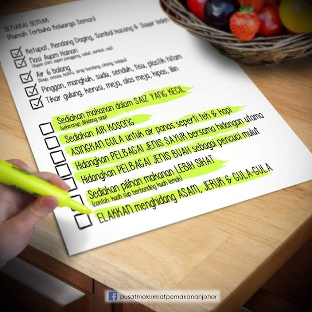 7 Cara Untuk Pastikan Menu Sihat di Rumah Terbuka