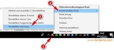 cara hapus antivirus avast