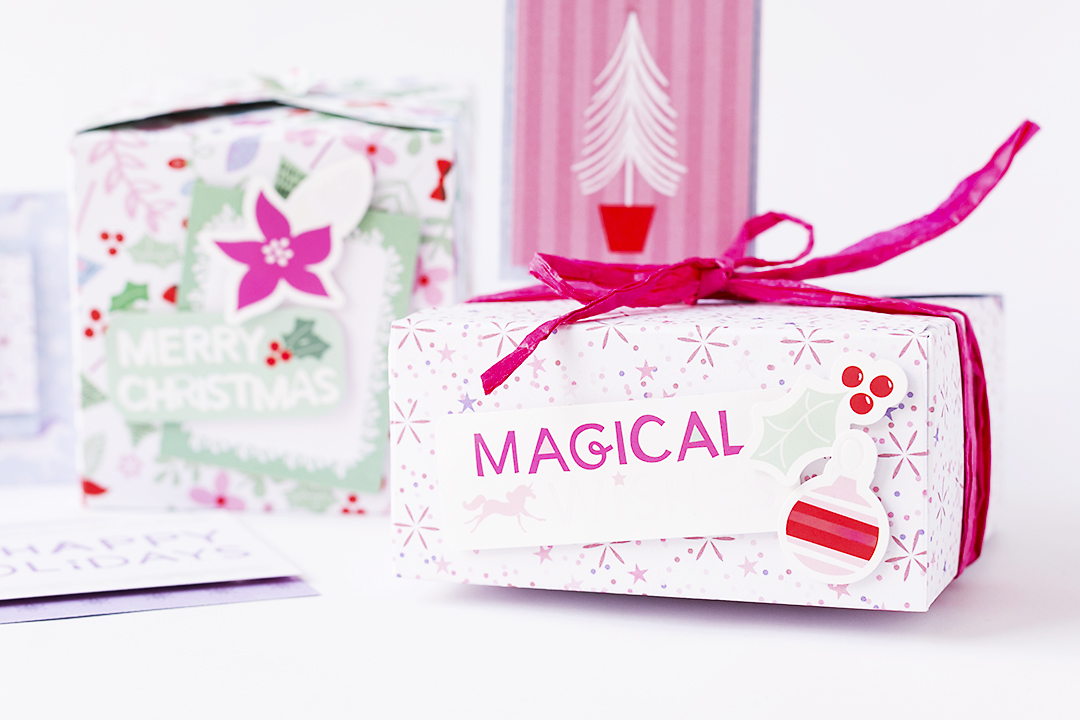 Christmas Gift Box with Magical Holidays @SandraDietrich for @DCWV