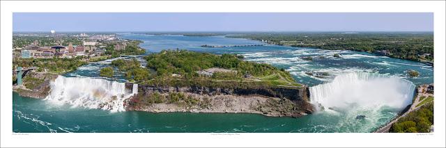 Niagra Falls wide panoramic photo prints for sale, Robert F Tobler wikipedia Owen Art Studios Panoramas