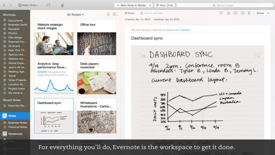 Evernote screenshot 3