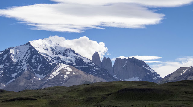 View of Las Torres in Torres del Paine National Park in Chile