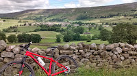 A view of the swaledale valley mountain biking the Yorkshire dales- by: © Paul c Walton