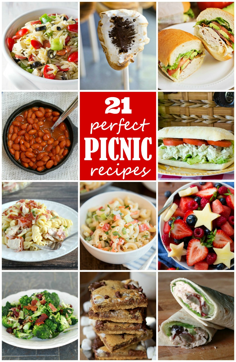21 Perfect Picnic Recipes from your favorite food bloggers!