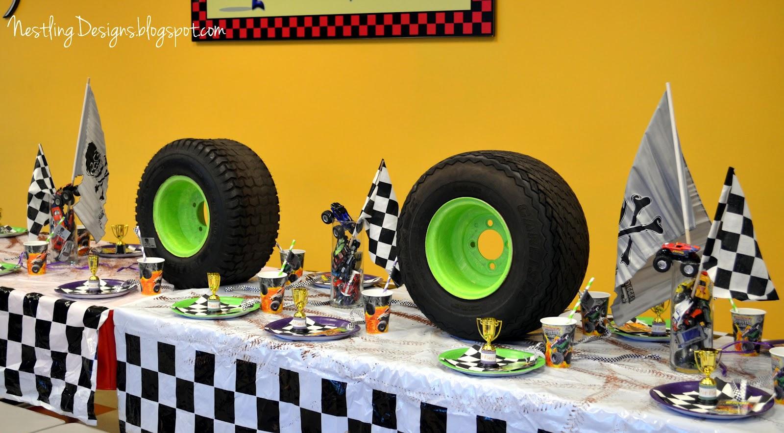Monster Truck Birthday Cake Decorations